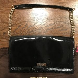 kate spade Bags - Kate Spade Black Patent Leather Clutch
